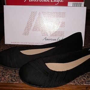 Black Women's Flats By American Eagle By Payless